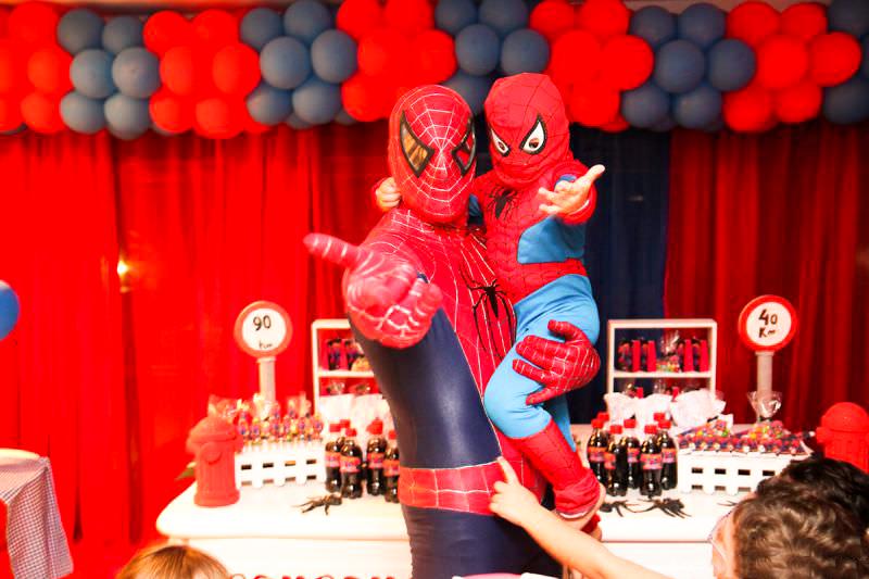 festa tema spiderman