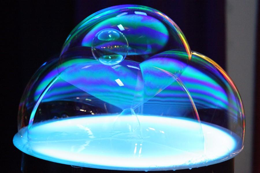 spettacolo bolle di sapone
