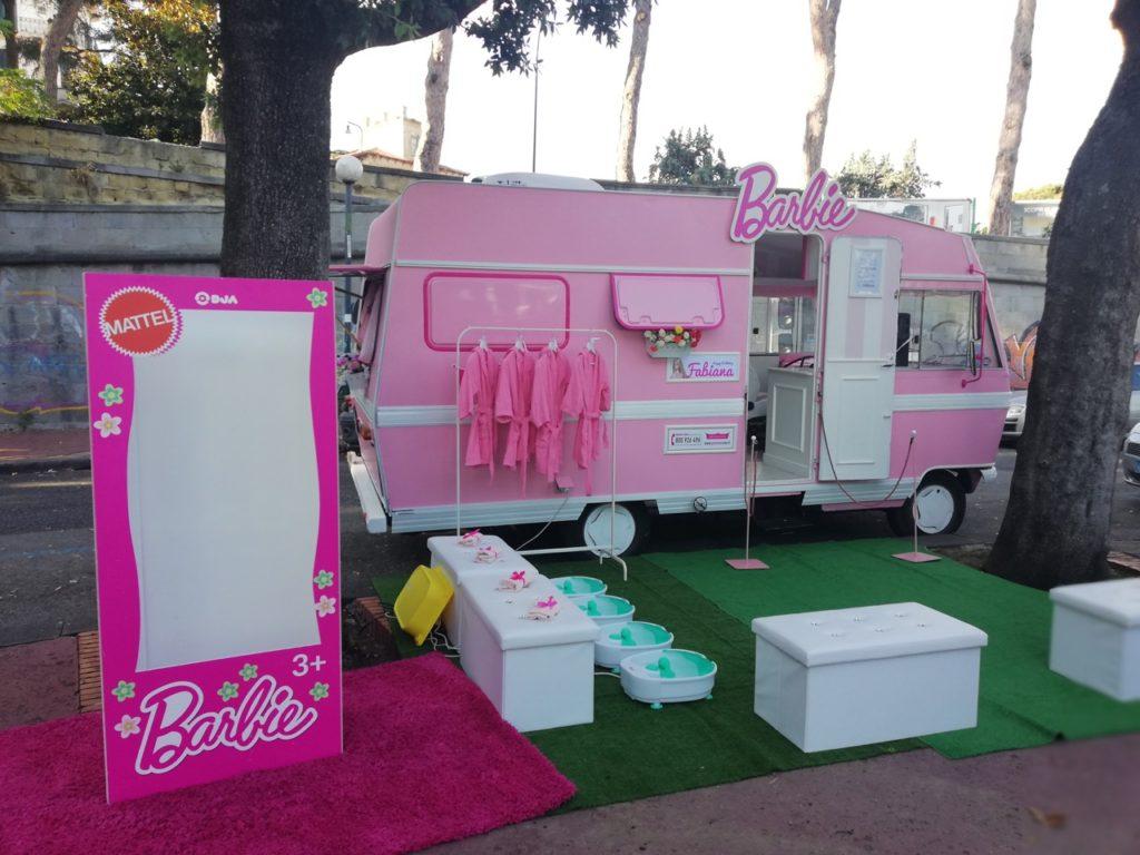 festa tema barbie camper