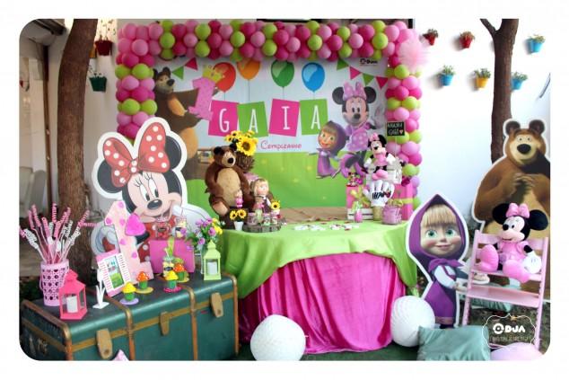 Primo Compleanno Masha Orso Minnie