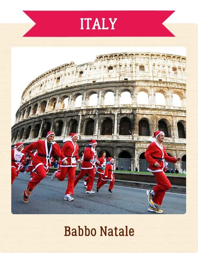 Babbo Natale Italy.Santa Claus Italy Babbo Natale