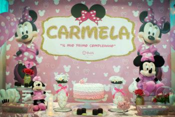 festa primo compleanno tema minnie