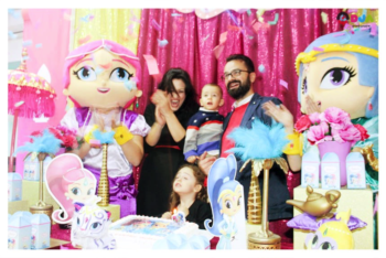 compleanno shimmer shine