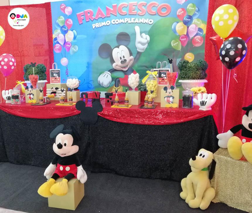 Festa Di Primo Compleanno Tema Topolino Per Francesco