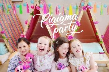 festa tema pigiama party