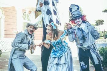 Allestimento Alice in Wonderland